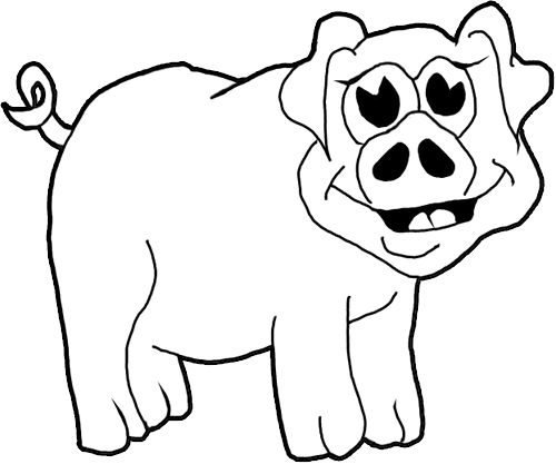 Finished How To Draw Cartoon Pigs / Farm Animals Step By