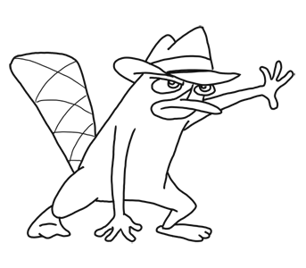 How to Draw Perry the Platypus from Phineas and Ferb for Kids : Step by Step Drawing Lesson