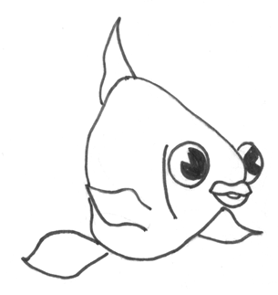 Step 10 How to Draw a Cartoon Fish Step by Step Drawing Tutorial for Kids