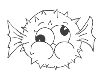 How to Draw a Cartoon Blowfish Step by Step Drawing Tutorial for Kids
