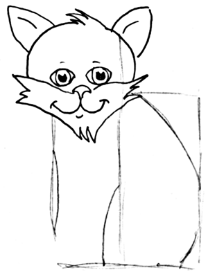 Step 7 How to Draw Cartoon Cats Step by Step Drawing Tutorial for Kids