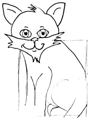 Step 8 How to Draw Cartoon Cats Step by Step Drawing Tutorial for Kids