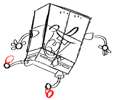 Step 15 How to Draw Spongebob Squarepants Doing the Wave : Step by Step Drawing Lessons
