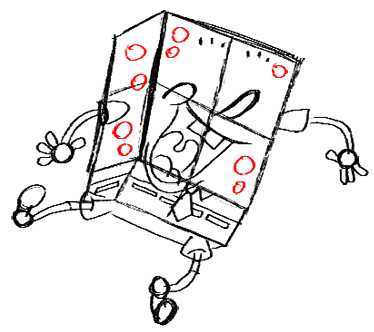 Step 16 How to Draw Spongebob Squarepants Doing the Wave : Step by Step Drawing Lessons
