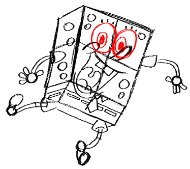 Step 17 How to Draw Spongebob Squarepants Doing the Wave : Step by Step Drawing Lessons