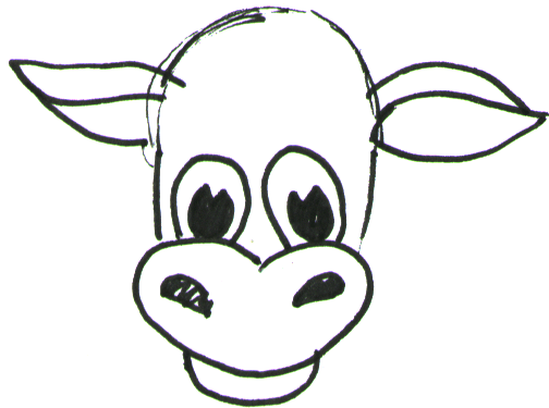 Step 3 How to Draw Cartoon Cows / Farm Animals Step by Step Drawing Lessons