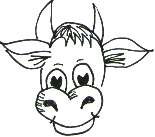 Step 4 How to Draw Cartoon Cows / Farm Animals Step by Step Drawing Lessons
