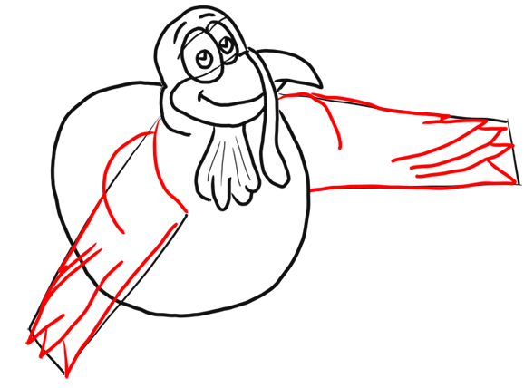 Step 8 How to Draw Cartoon Turkeys Thanksgiving Animals Step by Step Drawing Lesson