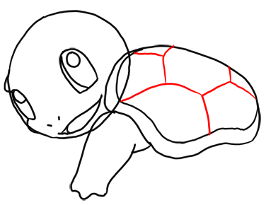 Step 8 How to Draw Squirtle from Pokemon for Kids : Step by Step Drawing Lesson