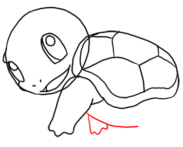 Step 9 How to Draw Squirtle from Pokemon for Kids : Step by Step Drawing Lesson