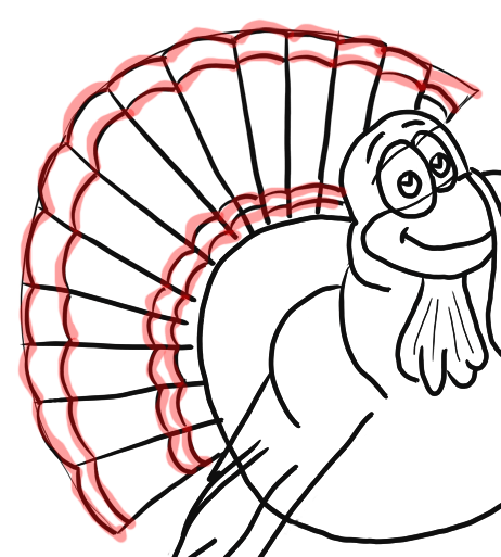 Step 10 How to Draw Cartoon Turkeys Thanksgiving Animals Step by Step Drawing Lesson