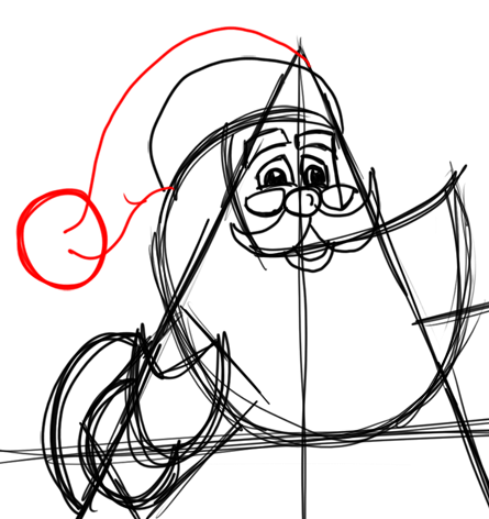 Step 10 How to Draw Santa Clause Step by Step Drawing Lesson