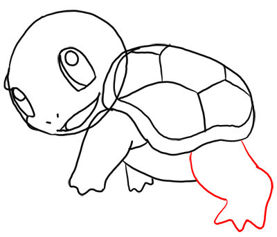 Step 10 How to Draw Squirtle from Pokemon for Kids : Step by Step Drawing Lesson