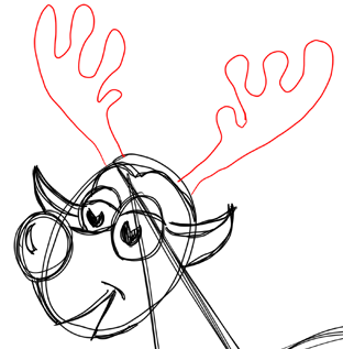 Step 11 How to Draw Cartoon Reindeers Step by Step Drawing Lessons