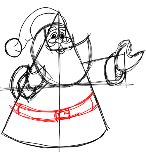 Step 11 How to Draw Santa Clause Step by Step Drawing Lesson