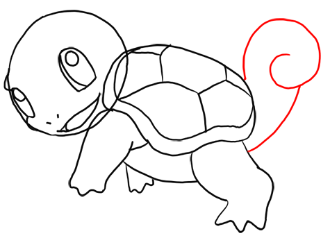 Step 11 How to Draw Squirtle from Pokemon for Kids : Step by Step Drawing Lesson