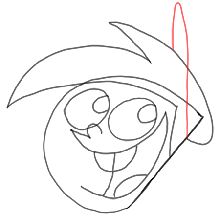 Step 11 How to Draw Timmy Turner from Fairly Odd Parents : Step by Step Drawing Lesson