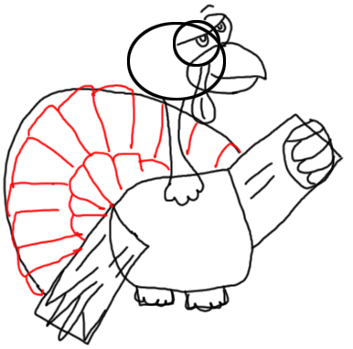 Step 11 How to Draw Turkeys for Thanksgiving and Farm  Animals Step by Step Drawing Tutorial for Kids, Teens, and Adults