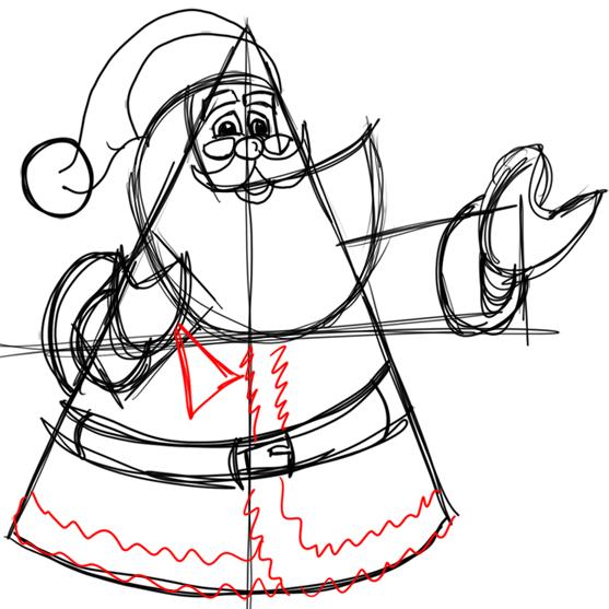 Step 12 How to Draw Santa Clause Step by Step Drawing Lesson