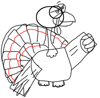 Step 12 How to Draw Turkeys for Thanksgiving and Farm  Animals Step by Step Drawing Tutorial for Kids, Teens, and Adults