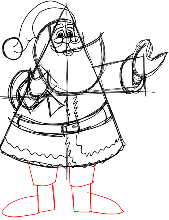 Step 13 How to Draw Santa Clause Step by Step Drawing Lesson