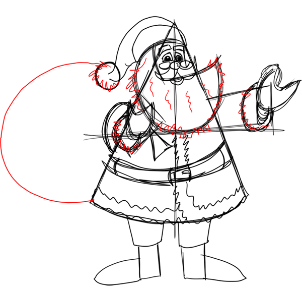 Step 14 How to Draw Santa Clause Step by Step Drawing Lesson