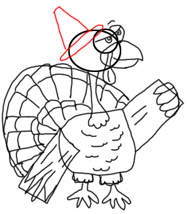 Step 15 How to Draw Turkeys for Thanksgiving and Farm  Animals Step by Step Drawing Tutorial for Kids, Teens, and Adults