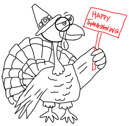 Step 17 How to Draw Turkeys for Thanksgiving and Farm  Animals Step by Step Drawing Tutorial for Kids, Teens, and Adults