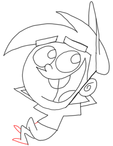 Step 19 How to Draw Timmy Turner from Fairly Odd Parents : Step by Step Drawing Lesson