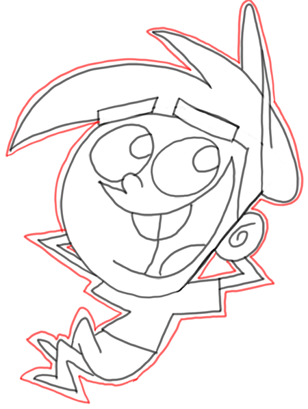 Step 20 How to Draw Timmy Turner from Fairly Odd Parents : Step by Step Drawing Lesson