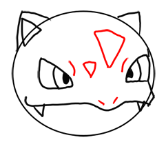 Step 6 How to Draw Ivysaur from Pokemon for Kids : Step by Step Drawing Lesson