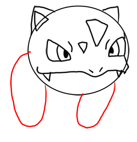 Step 7 How to Draw Ivysaur from Pokemon for Kids : Step by Step Drawing Lesson
