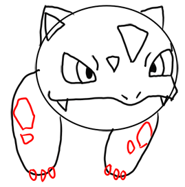 Step 8 How to Draw Ivysaur from Pokemon for Kids : Step by Step Drawing Lesson