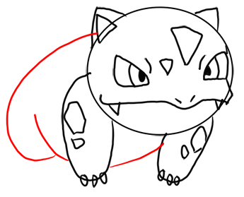 Step 9 How to Draw Ivysaur from Pokemon for Kids : Step by Step Drawing Lesson
