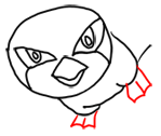 Step 5 How to Draw Pidgeotto from Pokemon Step by Step Drawing Lessons