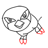 Step 6 How to Draw Pidgeotto from Pokemon Step by Step Drawing Lessons