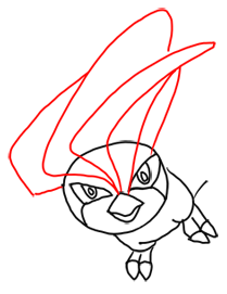 Step 7 How to Draw Pidgeotto from Pokemon Step by Step Drawing Lessons