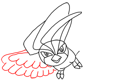 Step 8 How to Draw Pidgeotto from Pokemon Step by Step Drawing Lessons