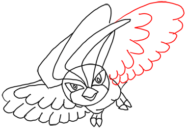 Step 9 How to Draw Pidgeotto from Pokemon Step by Step Drawing Lessons
