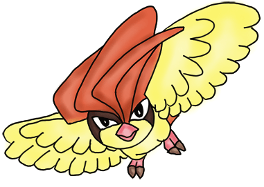 Finished Colorized Drawing of Pidgeotto from Pokemon