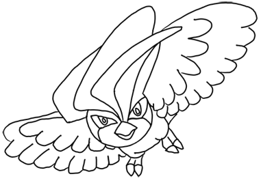 Finished Pen Drawing of Pidgeotto from Pokemon
