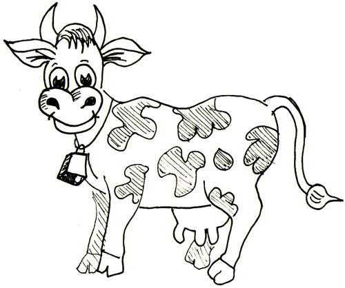 How to Draw Cartoon Cows / Farm Animals Step by Step Drawing Lessons