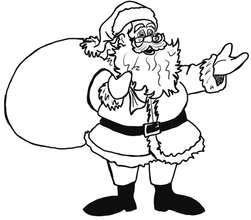 finished-How to Draw Santa Clause Step by Step Drawing Lesson