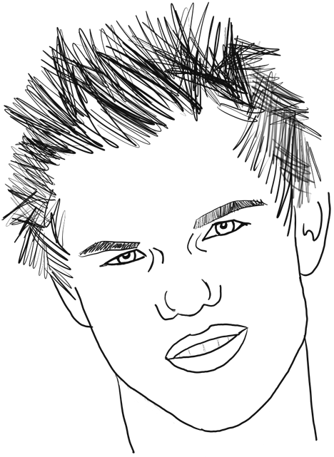 Taylor Lautner : How to Draw Taylor Lautner Step by Step Drawing Tutorial