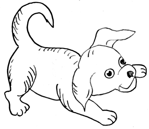 Step 10 How to Draw Cartoon Dogs Step by Step Drawing Lessons for Kids