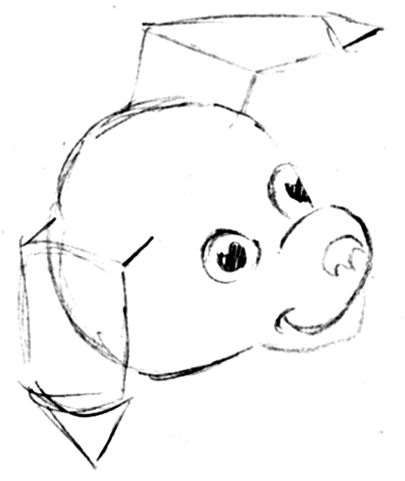 Step 6 How to Draw Cartoon Dogs Step by Step Drawing Lessons for Kids