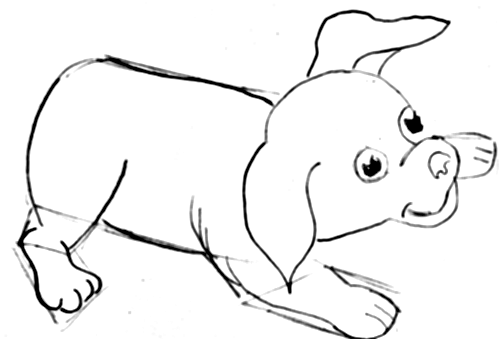 Step 9 How to Draw Cartoon Dogs Step by Step Drawing Lessons for Kids
