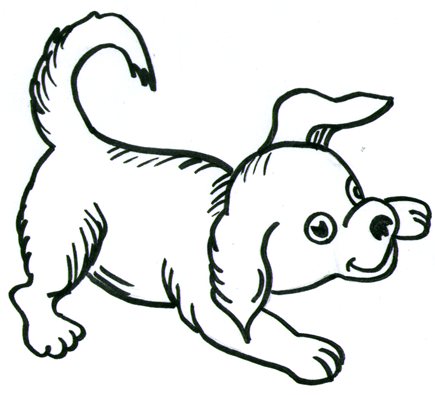Step 11 How to Draw Cartoon Dogs Step by Step Drawing Lessons for Kids