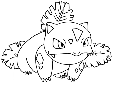 Finished Drawing of Ivysaur from Pokemon