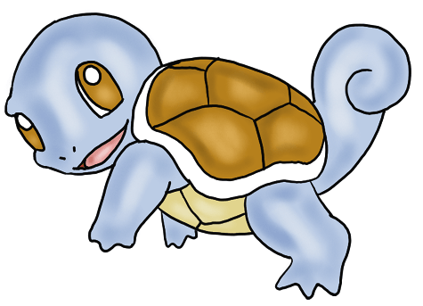 How to Draw Squirtle from Pokemon for Kids : Step by Step Drawing Lesson
